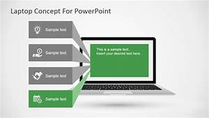 Free Laptop Concept For Powerpoint Slidemodel