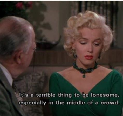 marilyn monroe finds  lonesome  terrible