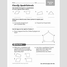 Classify Quadrilaterals Practice 154 Worksheet For 4th  5th Grade  Lesson Planet