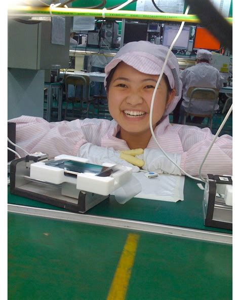 iphone factory iphone ships with photos of factory worker who tested it
