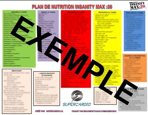 cuisine pour regime guide de nutrition insanity max 30 télécharger