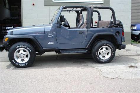 grey jeep wrangler 2 door sell used 2001 jeep wrangler sport sport utility 2 door 4