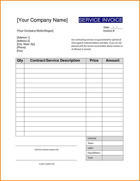 Sle Invoice Template Sle Invoices Templates For Word Free Sle Invoice Templates