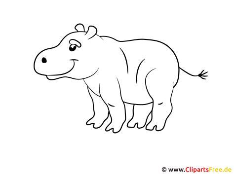 malvorlage fuer kleinkinder hippo