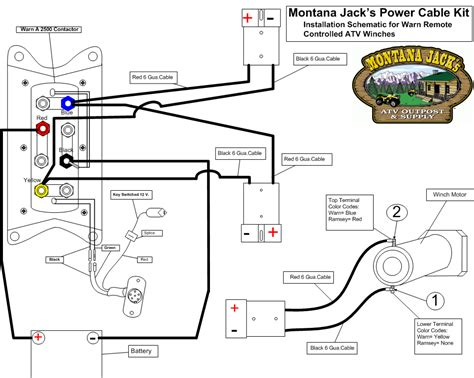 wiring diagram atv winch wiring diagram polaris atv winch