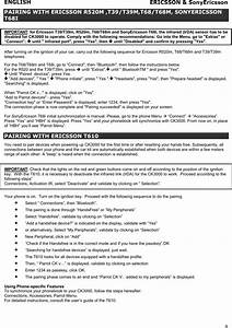 Parrot Ck3000 Hand U0026 39 S Free Car Kit User Manual