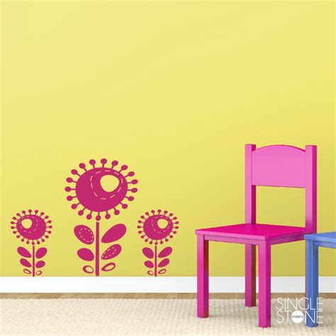 funky flowers wall decals wall decals wall stickers