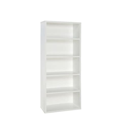 closetmaid 73 in x 30 in white decorative 5 shelf unit