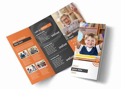 Brochure Tutor Academic Template Mycreativeshop Fold Tri