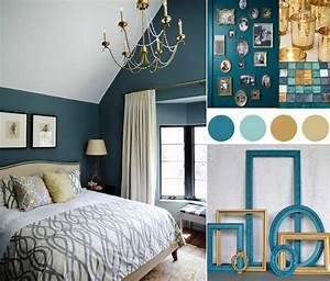 Meuble Bleu Canard : chambre bleu canard avec quelle couleur accords classe et id es d co ~ Teatrodelosmanantiales.com Idées de Décoration