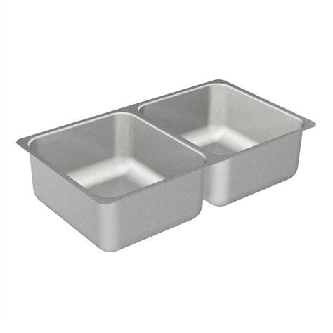 stainless steel undermount kitchen sink double bowl moen 2000 series undermount stainless steel 31 25 in
