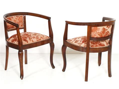 Lounge Liberty Pair Seats Structure Stool Footstool Walnut