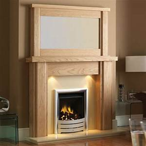 Oak Contemporary Fireplace Surrounds All Contemporary