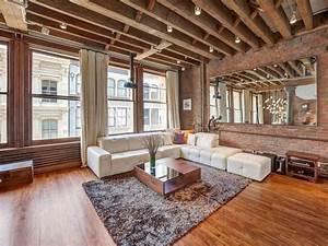 la deco loft new yorkais en 65 images archzinefr With tapis ethnique avec canapé style loft