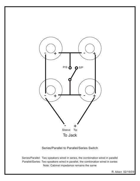 Wiring Cabinet For Switchable Series Parallel