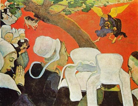 Paul Gauguin Vision After The Sermon  Wwwimgkidcom  The Image Kid Has It