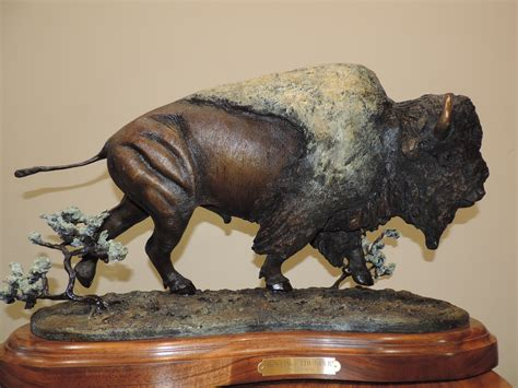 Bronze Sculpture Of North American Animals Rolling Thunder