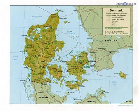 Mapa Dánska - MapaOnline.cz