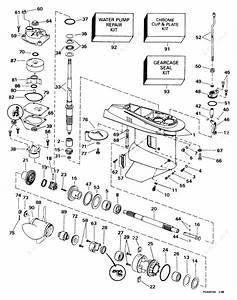 Evinrude 1998 40 - E40telecr  Gearcase