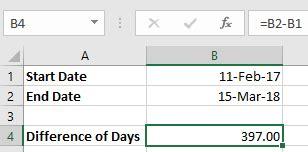 calculate number daysweeksmonthsyears excel