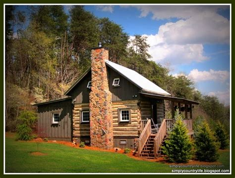 simply country life  biggest diy project  date building  vintage log cabin
