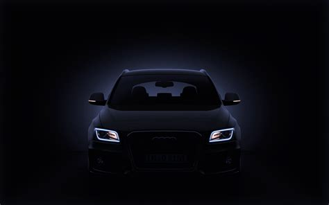Audi Q5 Hd Picture by White Car Headlight Turned On Hd Wallpaper Wallpaper Flare
