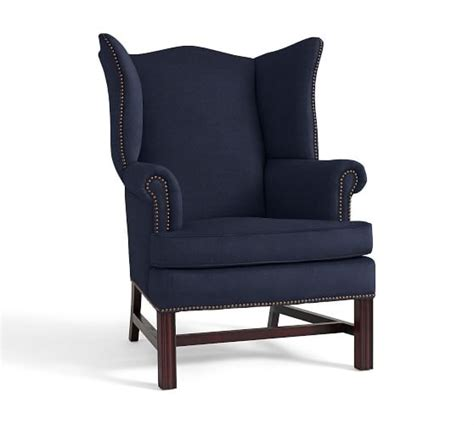 sale thatcher upholstered wingback chair pottery barn