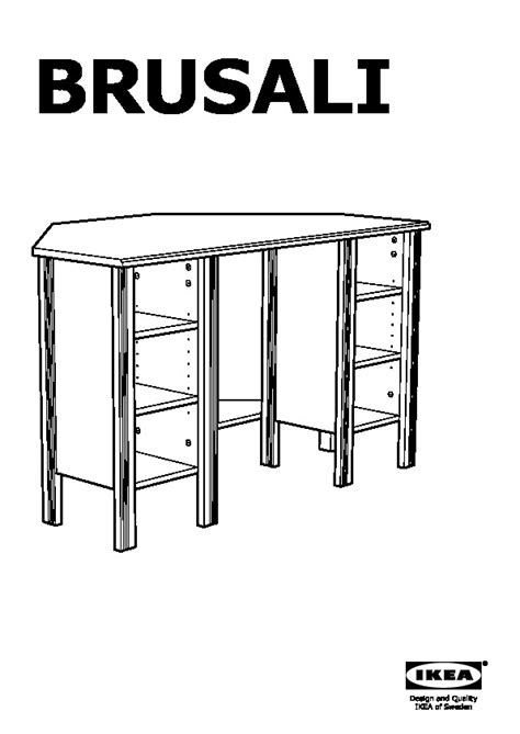 ikea corner desk instructions brusali corner desk white ikea united kingdom ikeapedia