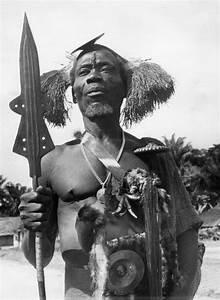 Ekonda warrior near lake Tumba - Circa 1957 Mongo Kundu ...