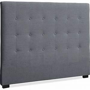 Tissu Pour Tete De Lit : t te de lit capitonn e tissu gris 140 luxa ~ Preciouscoupons.com Idées de Décoration