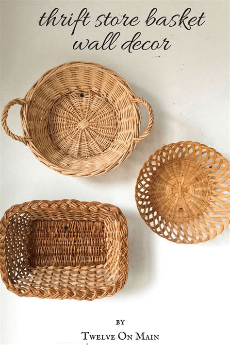 So many exclusive kids wall art prints and decals, so little time. Basket Wall Decor from a Thrift Store - Twelve On Main