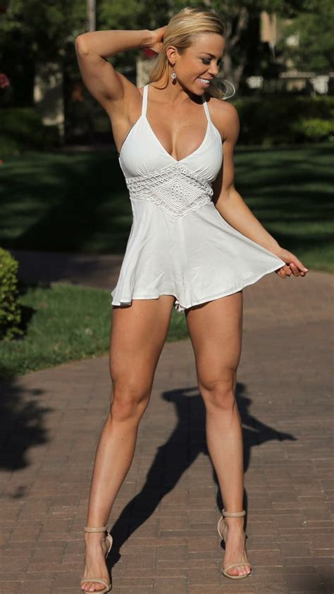 Lauren Drain Perfect Body Fit Legs White Mini Dress Sexy Legs Sexy Outfits Fashion