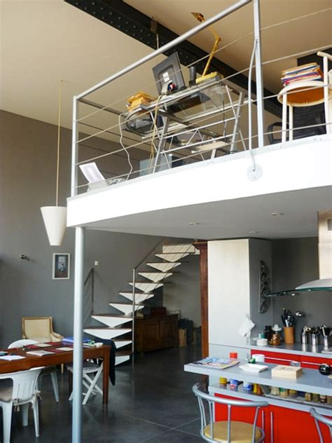 bureau mezzanine bureau en mezzanine dans un loft à roubaix