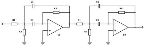 bandpass filter design calculator active butterworth bandpass filter