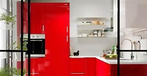 Couleur Cuisine Ikea : quelles couleurs associer dans une cuisine rouge marie claire ~ Nature-et-papiers.com Idées de Décoration