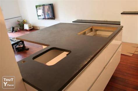 beton ciré pour plan de travail cuisine plan de travail en béton cire