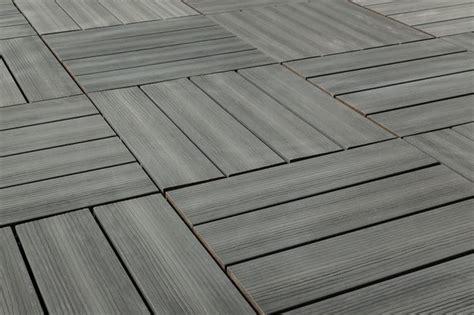 Kontiki Interlocking Deck Tiles by Kontiki Interlocking Deck Tiles Gray Traditional