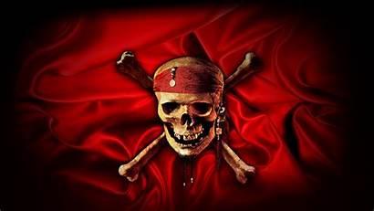 Skull Crossbones Pirates Caribbean End Flaming Background