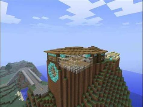 minecraft awesome cliff side house youtube