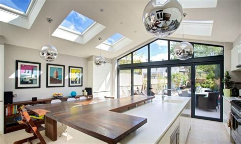 kitchen extension roof designs roof light for flat roof of south facing extension 4747