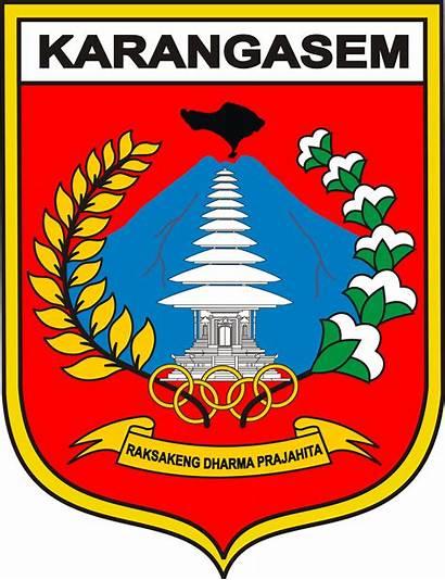 Karangasem Kabupaten Lambang Bali Daerah Provinsi Kota