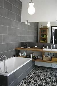 Carreaux De Ciment Salle De Bain : du gris dans la salle de bain cocon d co vie nomade ~ Melissatoandfro.com Idées de Décoration