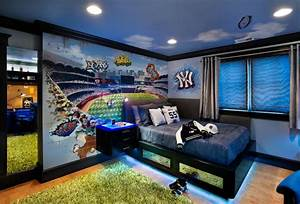 yankee stadium teen rom With kitchen cabinets lowes with baseball stadium wall art