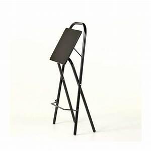 Tabouret Metal Noir : tabouret snack pliant simone 4 pieds tables chaises et tabourets ~ Teatrodelosmanantiales.com Idées de Décoration