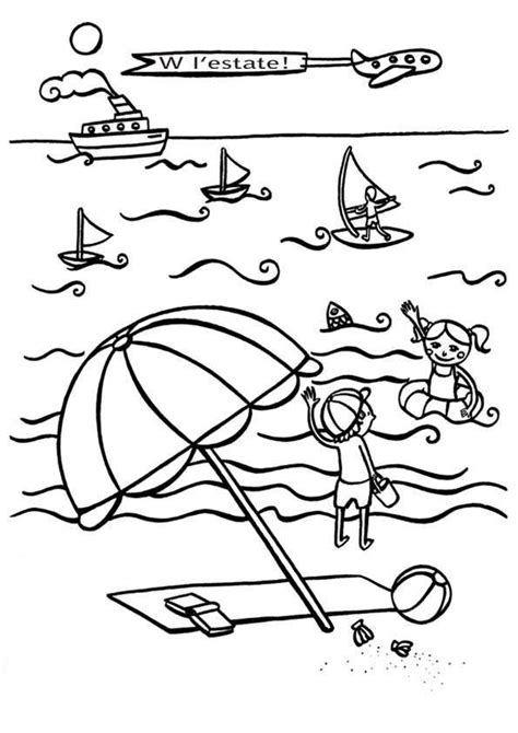 spiaggia disegni estate colorati disegni sull estate da stare e colorare vacanze al