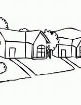 Coloring Neighborhood Clipart Pages Sheet Suburbs Fun Library Popular Coloringhome sketch template