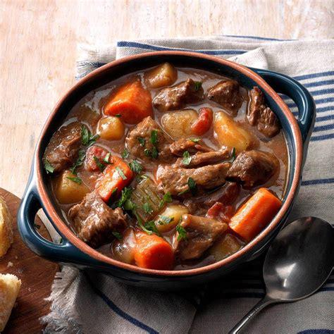 slow cooker beef stew recipe taste  home