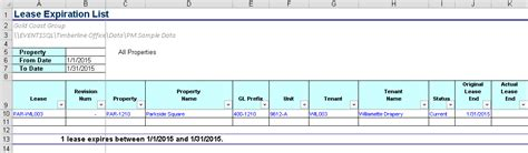 pm lease expiration list event  software