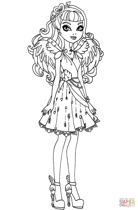 high cupid   high coloring page