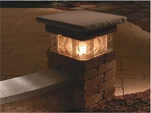 Top solar landscape lighting : Outdoor lighting kits top solar lights pillar